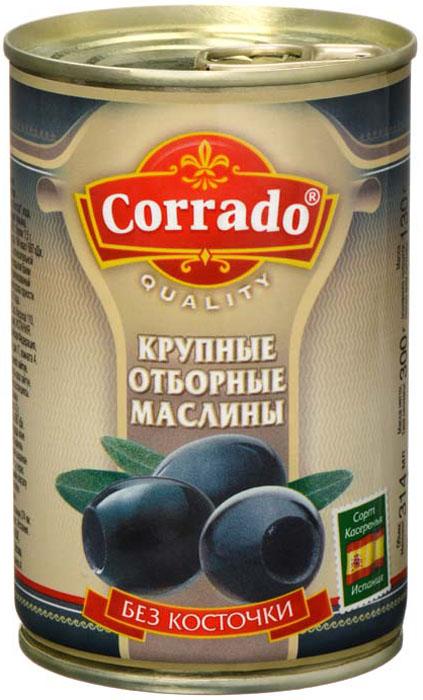 Corrado маслины крупные отборные без косточки, 300 г delphi маслины с косточкой натуральные в рассоле 350 г