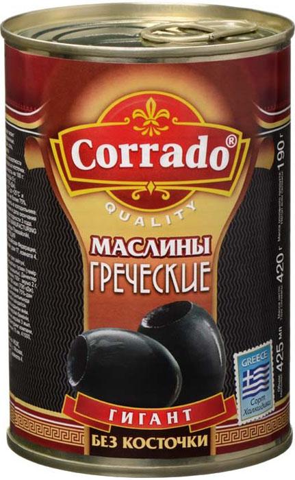 Corrado маслины гигант без косточки, 425 г маслины gonzalez gold без косточек 425г