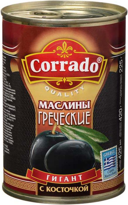 Фото Corrado маслины гигант с косточкой, 425 г