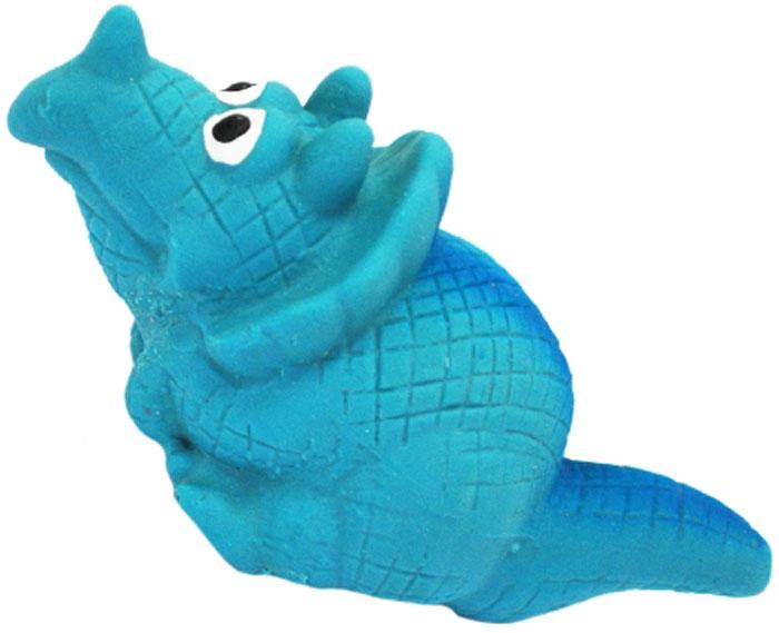 Игрушка для собак №1 Динозаврик, с пищалкой, цвет: голубой, 8 смЛС13Игрушка для собак №1 выполнена в виде динозаврика. Собаки очень любят играть. Игрушка оснащена пищалкой, благодаря которой собака с радостью ее хватает и подбрасывает.