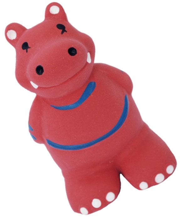 Игрушка для собак №1 Бегемотик, с пищалкой, 9 см бегемотика из кожи в москве