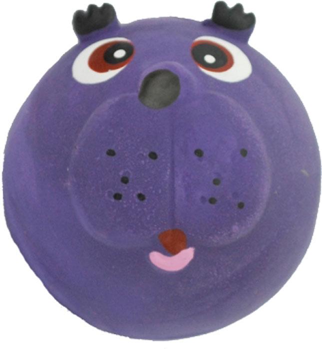 Игрушка для собак №1 Мяч-мордашка, с пищалкой, цвет: фиолетовый, 6 смЛС25Игрушка для собак №1 выполнена в виде мяча с мордашкой. Собаки очень любят играть. Игрушка оснащена пищалкой, благодаря которой собака с радостью ее хватает и подбрасывает.