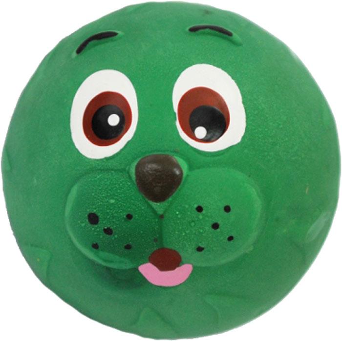 Игрушка для собак №1 Мяч-мордашка, с пищалкой, цвет: зеленый, 6 смЛС27Игрушка для собак №1 выполнена в виде мяча с мордашкой. Собаки очень любят играть. Игрушка оснащена пищалкой, благодаря которой собака с радостью ее хватает и подбрасывает.