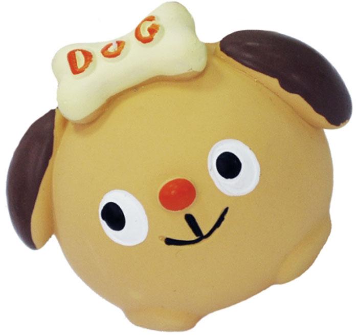 Игрушка для собак №1 Собачка с бантом, с пищалкой, 7 см трикси игрушка для собак собака 28 см