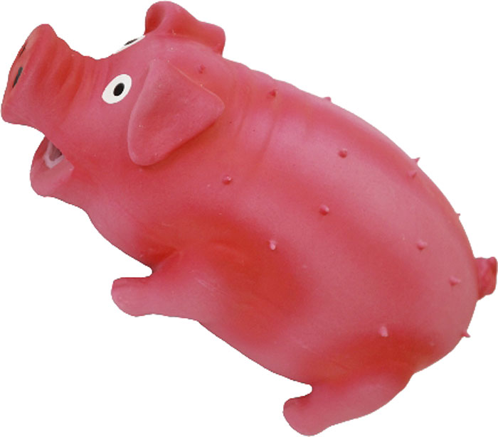 Игрушка для собак №1 Свинка, хрюкающая, цвет: розовый, 21 смЛС46Игрушка для собак №1 выполнена в виде свинки. Собаки очень любят играть. Игрушка оснащена пищалкой с хрюкающим звуком, благодаря которой собака с радостью ее хватает и подбрасывает.