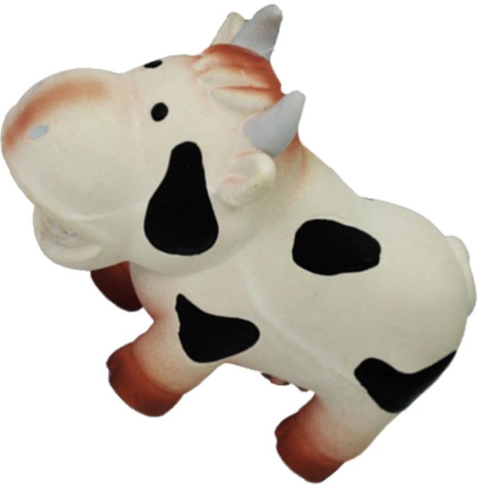 Игрушка для собак №1 Корова, мычащая, 14 смЛС47Игрушка для собак №1 выполнена в виде коровы. Собаки очень любят играть. Игрушка оснащена пищалкой с мычащим звуком, благодаря которой собака с радостью ее хватает и подбрасывает.