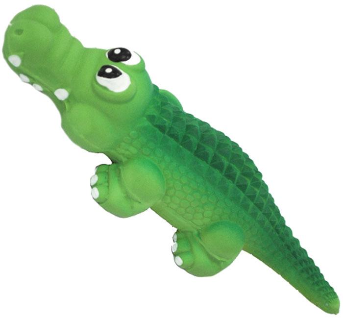 Игрушка для собак №1 Крокодил, с пищалкой, 15 смЛС50Игрушка для собак №1 выполнена в виде крокодила. Собаки очень любят играть. Игрушка оснащена пищалкой, благодаря которой собака с радостью ее хватает и подбрасывает.