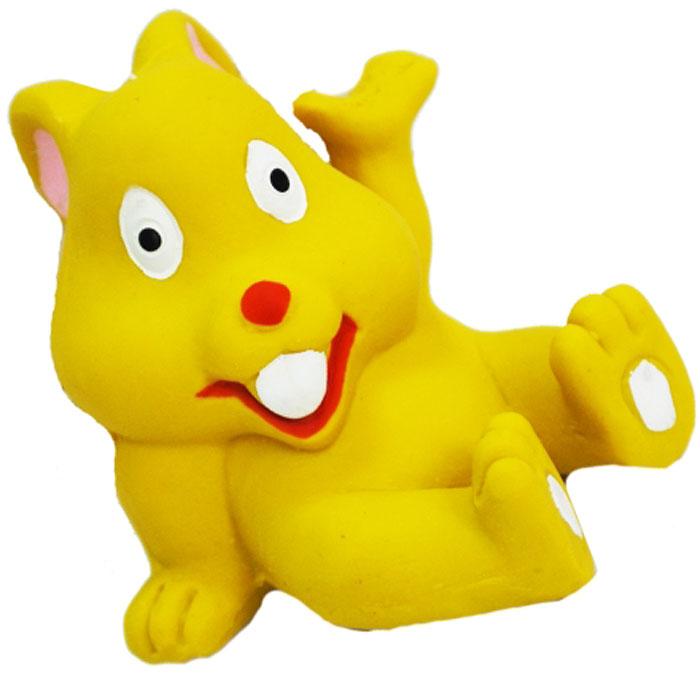 Игрушка для собак №1 Крольченок, с пищалкой, 6 см игрушка для собак lilli pet веселый мячик с пищалкой ф 7см винил