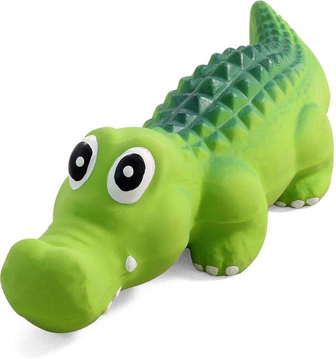 Игрушка для собак №1 Крокодил, с пищалкой, 21 смЛС64Игрушка для собак №1 выполнена в виде крокодила. Собаки очень любят играть. Игрушка оснащена пищалкой, благодаря которой собака с радостью ее хватает и подбрасывает.