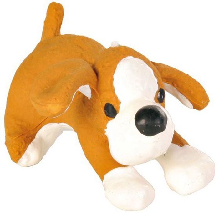 Игрушка для собак №1 Мохнатый прыгающий щенок, с пищалкой, 10 см трикси игрушка для собак собака 28 см