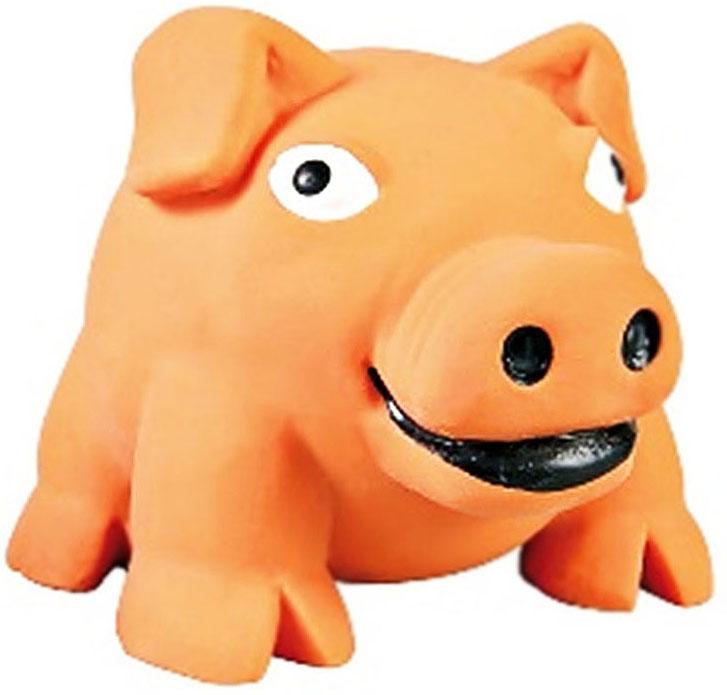 Игрушка для собак №1 Толстый поросенок, с пищалкой, 8 см трикси игрушка для собак собака 28 см