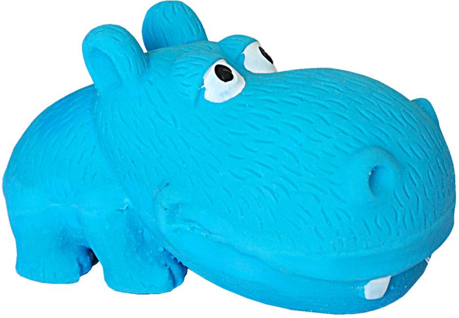 Игрушка для собак №1 Бегемотик, с пищалкой, 8 см бегемотика из кожи в москве