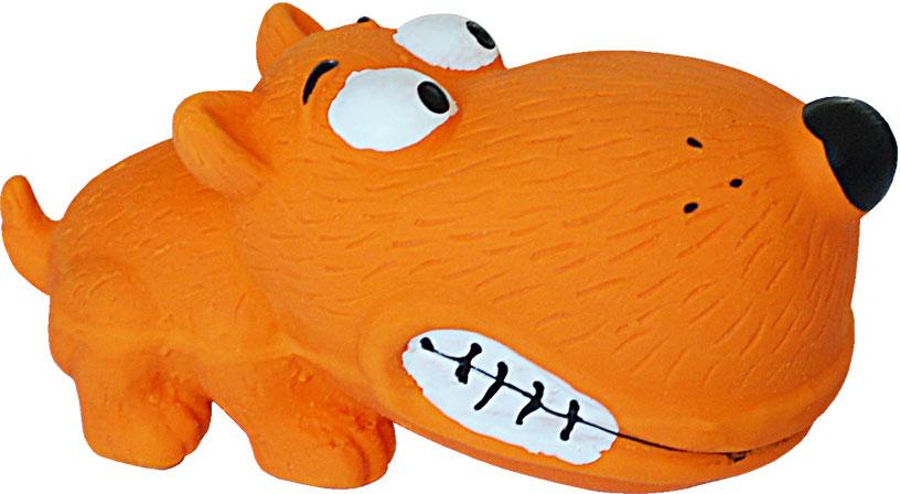 Игрушка для собак №1 Собака, с пищалкой, 8 см игрушка для собак lilli pet веселый мячик с пищалкой ф 7см винил