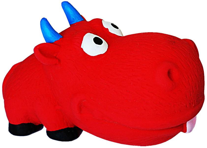 Игрушка для собак №1 Бычок, с пищалкой, 8 см игрушка для собак lilli pet веселый мячик с пищалкой ф 7см винил