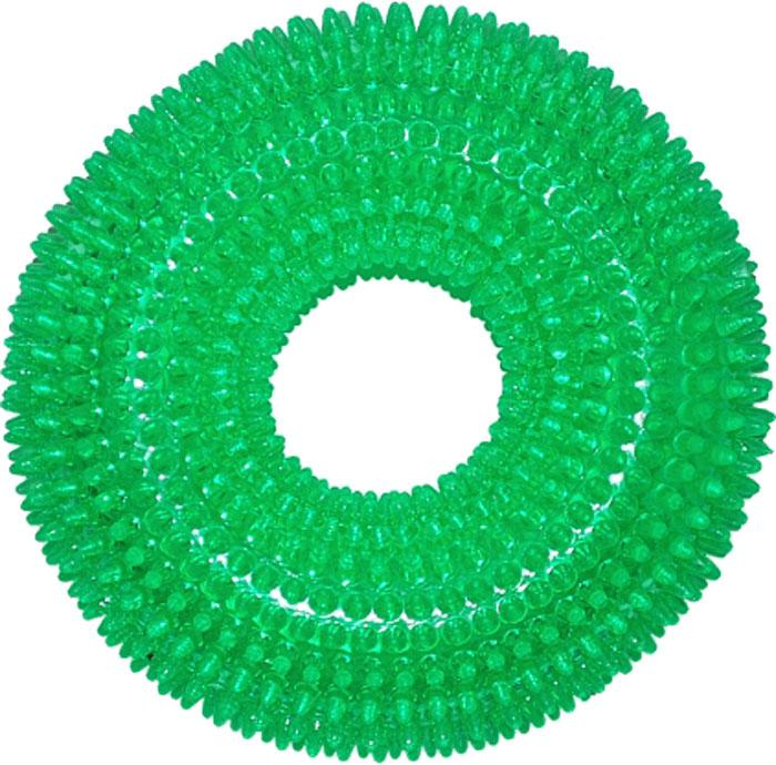 Игрушка для собак №1 Кольцо с шипами, диаметр 12 смТ14Уникальная форма игрушки для собак №1 способствует массажу десен во время игры, удаляют зубной налет. Долговечные игрушки для профилактики заболевания полости рта.