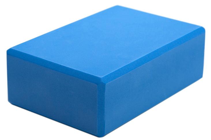Блок опорный для йоги Yogin Eva 22.5, цвет: голубой, 22,5 х 15 х 7,5 см2000096310593Легкий и удобный кирпич из EVA пены для занятий йогой. Оптимальный размер при минимальной цене. Скругленные грани, упругий нескользящий пластик делают этот опорный блок практически идеальным помощником для выполнения асан.Вес: 140 г