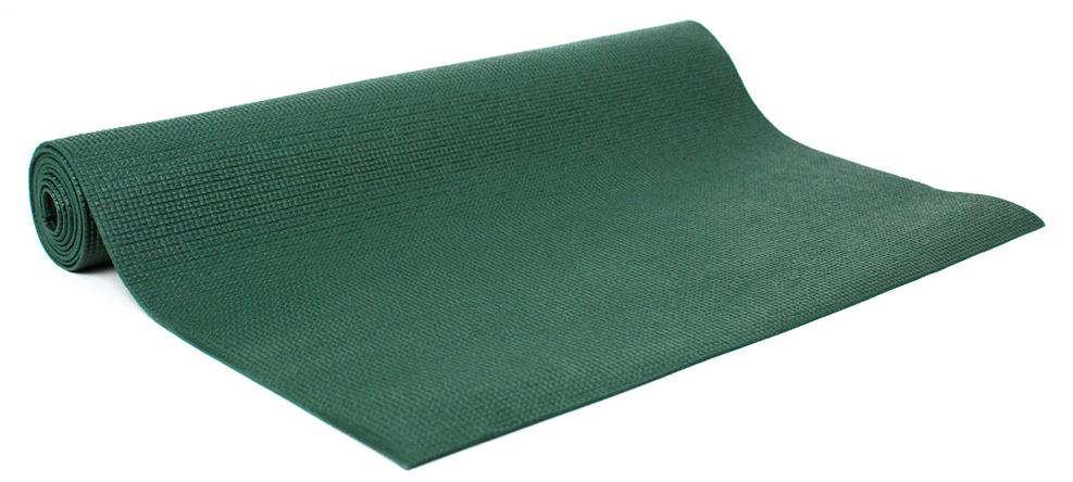 Коврик для йоги и фитнеса Yogin Practika, цвет: зеленый, 60 х 0,3 х 173 см2000102668151Этот йога-мат - наш подарок начинающим любителям йоги и йога-студиям. Мы установили на коврик для йоги Practika такие низкие цены, чтобы новички могли без больших затрат попробовать йогу и убедиться в ее эффективности. При этом не нужно заниматься на подручных средствах, а сразу можно начать занятия на специализированном армированном и гигиеничном коврике!Йога-мат Practika - это самое дешевое предложение из всего спектра ковриков для йоги в России. Но это совсем не значит, что этот йога-коврик - плохой. Он сделан из качественных материалов, идентичных по своим свойствам более дорогим моделям.Вы можете начать практику с этим ковриком и в дальнейшем сделать осознанный выбор своего, подходящего именно Вам коврика из более дорогих моделей. Если Вы еще захотите его менять!Коврик для йоги Practika имеет небольшой вес, он весит всего около 900 гр. Это позволяет использовать его для поездок, в том числе для выездных семинаров. Он прочный, гигиеничный, за ним легко ухаживать, что является еще одним важным его преимуществом.Ограничением коврика можно считать габариты, его длина 173см может оказаться недостаточной для людей высокого роста. Возможно, Вы захотите иметь более комфортный и толстый коврик, если занятия проходят на очень жестком полу. Его толщина 3мм в этом случае может оказаться недостаточной для защиты коленей, хотя обеспечит стабильность в балансовых асанах.