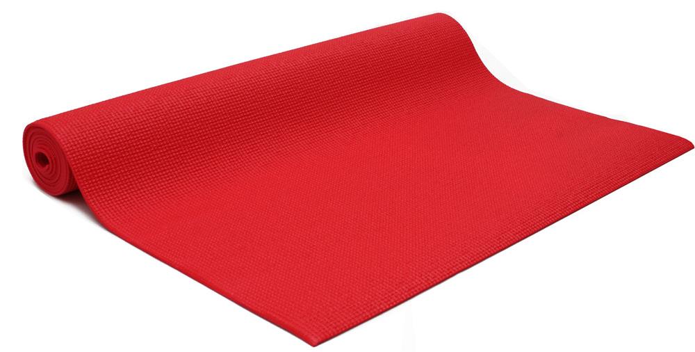Коврик для йоги и фитнеса Yogin Practika, цвет: красный, 60 х 0,3 х 173 см2000102668168Этот йога-мат - наш подарок начинающим любителям йоги и йога-студиям. Мы установили на коврик для йоги Practika такие низкие цены, чтобы новички могли без больших затрат попробовать йогу и убедиться в ее эффективности. При этом не нужно заниматься на подручных средствах, а сразу можно начать занятия на специализированном армированном и гигиеничном коврике!Йога-мат Practika - это самое дешевое предложение из всего спектра ковриков для йоги в России. Но это совсем не значит, что этот йога-коврик - плохой. Он сделан из качественных материалов, идентичных по своим свойствам более дорогим моделям.Вы можете начать практику с этим ковриком и в дальнейшем сделать осознанный выбор своего, подходящего именно Вам коврика из более дорогих моделей. Если Вы еще захотите его менять!Коврик для йоги Practika имеет небольшой вес, он весит всего около 900 гр. Это позволяет использовать его для поездок, в том числе для выездных семинаров. Он прочный, гигиеничный, за ним легко ухаживать, что является еще одним важным его преимуществом.Ограничением коврика можно считать габариты, его длина 173см может оказаться недостаточной для людей высокого роста. Возможно, Вы захотите иметь более комфортный и толстый коврик, если занятия проходят на очень жестком полу. Его толщина 3мм в этом случае может оказаться недостаточной для защиты коленей, хотя обеспечит стабильность в балансовых асанах.