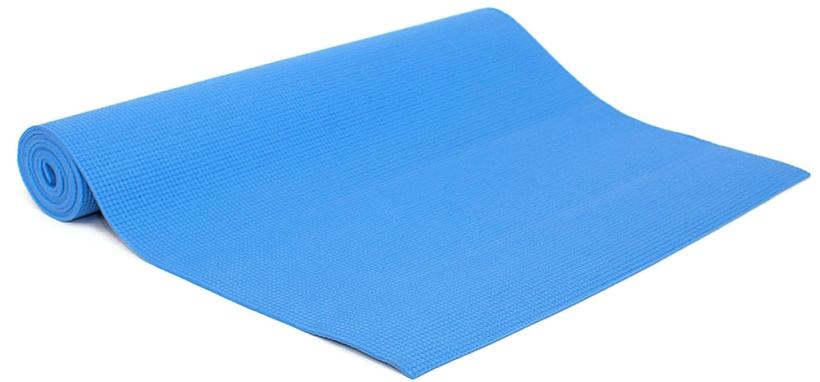 Коврик для йоги и фитнеса Yogin Ganesh, цвет: голубой, 60 х 0,4 х 183 см2000102668199Липкий армированный коврик для йоги Ganesh рекомендуется для начинающих и для своего коврика в йога-студии.Его габариты 183 см х 60 см х 4 мм являются золотой серединой среди аналогов. Так так коврик для йогидолжен быть на 5-10 см длиннее роста, то этот коврик подойдет тем, чей рост до 173-178 см. Более высоким следует обратить внимание на коврики Kailash,Yogin Extra и Yogin Special.Этот йога-коврик - отличный кандидат также для выездного коврика на семинар. Он имеет небольшой вес, его легко отмыть и за ним просто ухаживать - достаточно протереть мыльной губкой, смыть водой и высушить - коврик готов к новым упражнениям. Коврик для йоги Ganesh отличается небольшим весом - меньше килограмма! Это еще одна причина взять его с собой в путешествие.Коврик изготовлен из качественного ПВХ, абсолютно нетоксичен, прошел независимое тестирование (SGS) на отсутствие токсичных веществ и полностью соответствует EU стандарту (стандарт безопасности игрушек). В этом коврике оптимально сочетаются длина, ширина и толщина, а также потребительские качества.Плюсы: небольшой вес, гигиеничность. Минусы: может скользить при интенсивной практике и, соответственно, влажных ладонях.