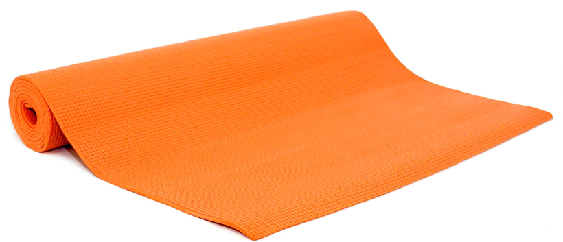 Коврик для йоги и фитнеса Yogin  Ganesh , цвет: оранжевый, 60 х 0,4 х 183 см - Инвентарь
