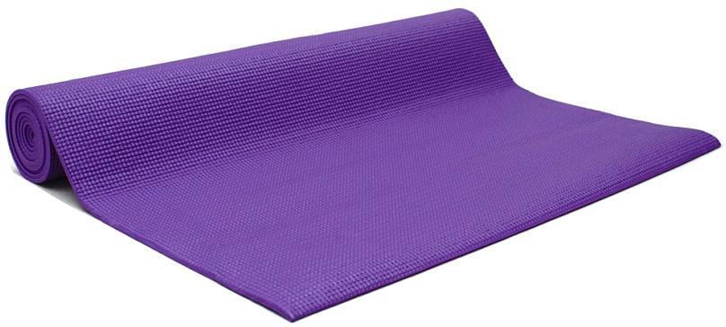 Коврик для йоги и фитнеса Yogin Ganesh, цвет: фиолетовый, 60 х 0,4 х 183 см2000102671168Липкий армированный коврик для йоги Ganesh рекомендуется для начинающих и для своего коврика в йога-студии. При низкой цене этот коврик обеспечит комфортную практику. Его габариты 183см х 60см х 4мм являются золотой серединой среди аналогов. Так так коврик для должен быть на 5-10см длиннее роста, то этот коврик подойдет тем, чей рост до 173-178см. Более высоким следует обратить внимание на коврики Kailash,Yogin Extra и Yogin Special. Этот йога-коврик - отличный кандидат также для выездного коврика на семинар. Он имеет небольшой вес, его легко отмыть и за ним просто ухаживать - достаточно протереть мыльной губкой, смыть водой и высушить - коврик готов к новым упражнениям.Коврик для йоги Ganesh отличается небольшим весом - меньше килограмма! Это еще одна причина взять его с собой в путешествие. Этот коврик достаточно прочен и перенесет все испытания Вашей практики, хотя для Аштанга-виньяса стиля мы бы порекомендовали более липкий и плотный мат.Его также с удовольствием берут в йога-залы, так как предлагаются 8 очень приятных цветов, которые подойдут к любому интерьеру: оливковый, синий, фиолетовый, лиловый, оранжевый, серый, морская волна и голубой.Коврик изготовлен из качественного ПВХ, абсолютно нетоксичен, прошёл независимое тестирование (SGS) на отсутствие токсичных веществ и полностью соответствует EU стандарту (стандарт безопасности игрушек). В этом коврике оптимально сочетаются длина, ширина и толщина, а также потребительские качества. За эту цену не найти лучшее предложение!Плюсы: низкая цена, небольшой вес, гигиеничность.Минусы: может скользить при интенсивной практике и, соответственно, влажных ладонях.