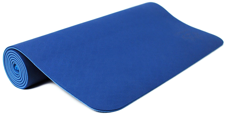Коврик для йоги и фитнеса Ojas Shakti , цвет: синий, 60 х 0,4 х 183 см2000102671229Экологичный, гипоаллергенный коврик для йоги стандартной толщины, значительно легче любого другого коврика этих габаритов. Толщина 4мм обеспечивает небольшой объем коврика и малый вес, при этом не в ущерб упругости и теплоизоляции. Сделан по технологии TPE (thermal plastic elastomer). Разное рифление поверхностей обеспечивает чуть разное качество сцепления с ладонями или с полом. Дело даже не в собственно трении, а в ощущении фактуры коврика под ладонями. Вы можете сами выбрать ту поверхность для регулярных занятий, которая для Вас наиболее комфортна. Одна сторона имеет более светлый тон, чем другая, и Вы можете чередовать рабочие поверхности сообразуясь с Вашим текущим настроением. Обе поверхности имеют примерно идентичные свойства и могут быть использованы для практики. Преимущества: уникальное сцепление, разные цвета поверхностей, легкость, отличная теплоизоляция, небольшой объем, упругость.
