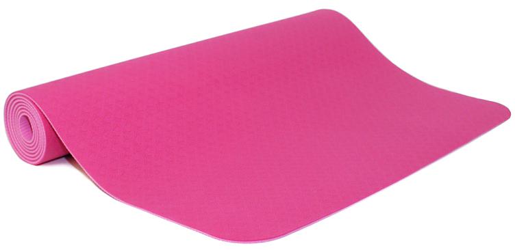 Коврик для йоги и фитнеса Ojas Shakti , цвет: фуксия, 60 х 0,4 х 183 см2000102671243Экологичный, гипоаллергенный коврик для йоги стандартной толщины, значительно легче любого другого коврика этих габаритов. Толщина 4мм обеспечивает небольшой объем коврика и малый вес, при этом не в ущерб упругости и теплоизоляции. Сделан по технологии TPE (thermal plastic elastomer). Разное рифление поверхностей обеспечивает чуть разное качество сцепления с ладонями или с полом. Дело даже не в собственно трении, а в ощущении фактуры коврика под ладонями. Вы можете сами выбрать ту поверхность для регулярных занятий, которая для Вас наиболее комфортна. Одна сторона имеет более светлый тон, чем другая, и Вы можете чередовать рабочие поверхности сообразуясь с Вашим текущим настроением. Обе поверхности имеют примерно идентичные свойства и могут быть использованы для практики. Преимущества: уникальное сцепление, разные цвета поверхностей, легкость, отличная теплоизоляция, небольшой объем, упругость.