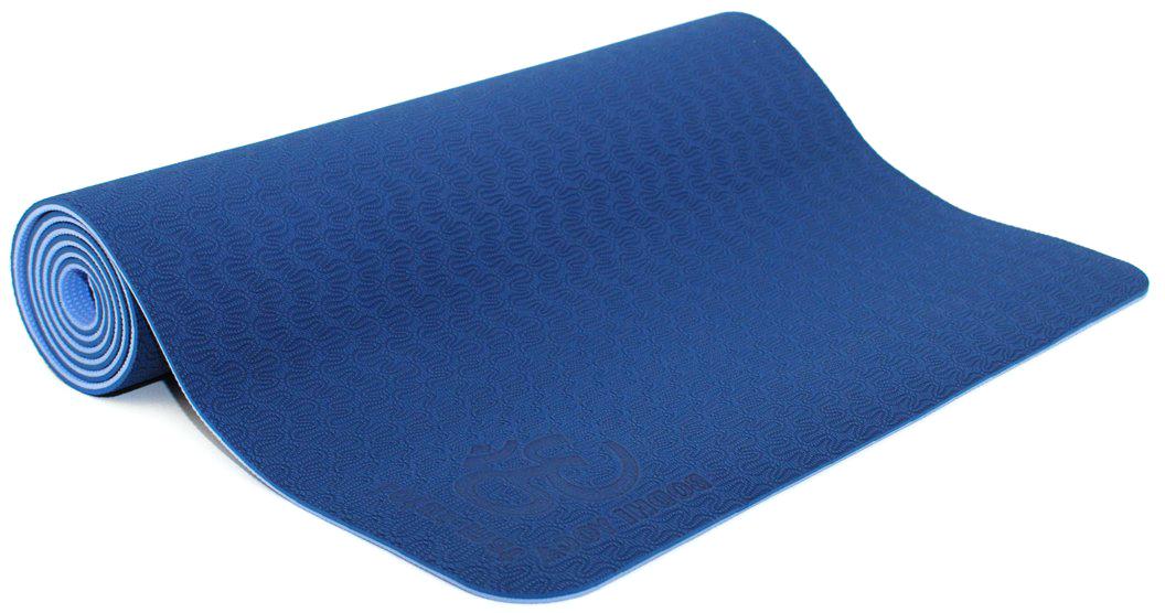 Коврик для йоги и фитнеса Bodhi Lotus Pro, цвет: синий, 60 х 0,6 х 183 см2000102672639Lotus Pro признан элитным ковриком для йоги. Это очень липкий йога-мат для занятий йогой, пилатесом. Технология TPE гарантирует отсутствие соединений хлора при производстве и считается довольно экологичным. Поверхность двусторонняя с различным рельефом, очень мягкая. Она обеспечивают отличные противоскользящие свойства. Упругий, мягкий, толстый коврик предохранит твердые части тела при упорах на жестком полу в зале. На коврике выдавлен знак ОМ. Коврик очень легкий, весит всего 1200 грамм.Легкий и прочный, этот коврик будет вашим надежным спутником как при регулярной практике в йога-центре, так и в путешествиях. Lotus очень часто выбирают девушки и женщины, насыщенные расцветки и невероятно приятный материал, в который влюбляешься с первого прикосновения.
