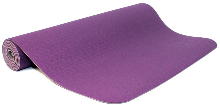 Коврик для йоги и фитнеса Ojas Shakti , цвет: лиловый, 60 х 0,4 х 183 см2000102677009Коврик для йоги и фитнеса Ojas Shakti - это экологичный и гипоаллергенный коврик для йоги стандартной толщины, значительно легче любого другого коврика этих габаритов.Толщина 4 мм обеспечивает небольшой объем коврика и малый вес, при этом не в ущерб упругости и теплоизоляции. Изготовлен по технологии TPE (thermal plastic elastomer). Разное рифление поверхностей обеспечивает чуть разное качество сцепления с ладонями или с полом.Дело даже не в собственно трении, а в ощущении фактуры коврика под ладонями. Вы можете сами выбрать ту поверхность для регулярных занятий, которая для вас наиболее комфортна. Одна сторона имеет более светлый тон, чем другая, и вы можете чередовать рабочие поверхности сообразуясь с вашим текущим настроением. Обе поверхности имеют примерно идентичные свойства и могут быть использованы для практики. Преимущества: уникальное сцепление, разные цвета поверхностей, легкость, отличная теплоизоляция, небольшой объем, упругость. Как выбрать коврик для йоги – статья на OZON Гид.