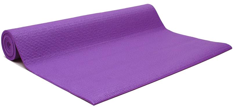 Коврик для йоги и фитнеса Yogin Ganesh, цвет: лиловый, 60 х 0,4 х 183 см2000102677030Липкий армированный коврик для йоги Ganesh рекомендуется для начинающих и для своего коврика в йога-студии. При низкой цене этот коврик обеспечит комфортную практику. Его габариты 183см х 60см х 4мм являются золотой серединой среди аналогов. Так так коврик для должен быть на 5-10см длиннее роста, то этот коврик подойдет тем, чей рост до 173-178см. Более высоким следует обратить внимание на коврики Kailash,Yogin Extra и Yogin Special. Этот йога-коврик - отличный кандидат также для выездного коврика на семинар. Он имеет небольшой вес, его легко отмыть и за ним просто ухаживать - достаточно протереть мыльной губкой, смыть водой и высушить - коврик готов к новым упражнениям.Коврик для йоги Ganesh отличается небольшим весом - меньше килограмма! Это еще одна причина взять его с собой в путешествие. Этот коврик достаточно прочен и перенесет все испытания Вашей практики, хотя для Аштанга-виньяса стиля мы бы порекомендовали более липкий и плотный мат.Его также с удовольствием берут в йога-залы, так как предлагаются 8 очень приятных цветов, которые подойдут к любому интерьеру: оливковый, синий, фиолетовый, лиловый, оранжевый, серый, морская волна и голубой.Коврик изготовлен из качественного ПВХ, абсолютно нетоксичен, прошёл независимое тестирование (SGS) на отсутствие токсичных веществ и полностью соответствует EU стандарту (стандарт безопасности игрушек). В этом коврике оптимально сочетаются длина, ширина и толщина, а также потребительские качества. За эту цену не найти лучшее предложение!Плюсы: низкая цена, небольшой вес, гигиеничность.Минусы: может скользить при интенсивной практике и, соответственно, влажных ладонях.