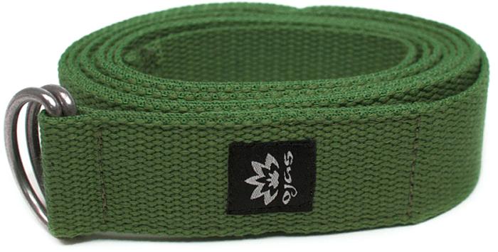 """Ремень для йоги Ojas """"Cotton Natural"""", цвет: зеленый, 4 х 240 см"""