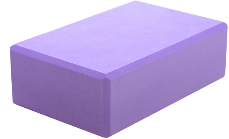 Блок опорный для йоги Yogin Eva 22.5, цвет: фиолетовый, 22,5 х 15 х 7,5 см2000102680986Легкий и удобный кирпич из EVA пены для занятий йогой. Оптимальный размер при минимальной цене. Скругленные грани, упругий нескользящий пластик делают этот опорный блок практически идеальным помощником для выполнения асан.Вес: 140 г