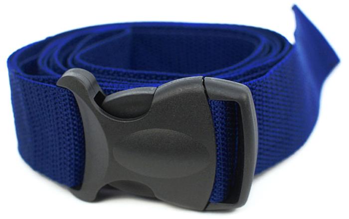 Ремень для йоги Yogin, с силовой пряжкой, цвет: темно-синий, 4 х 210 см цена