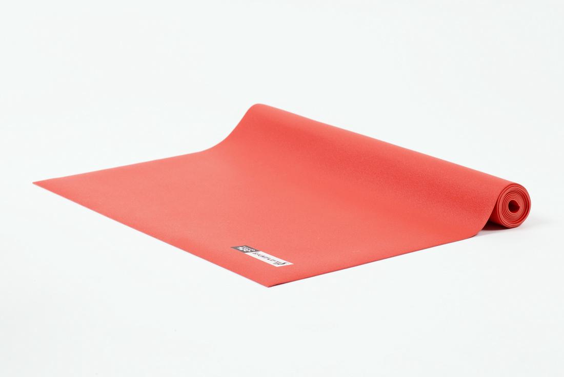 Коврик для йоги и фитнеса Ojas Salamander Slim, цвет: красный, 60 х 0,2 х 200 см коврик для йоги и фитнеса profi fit 6 мм стандарт серый
