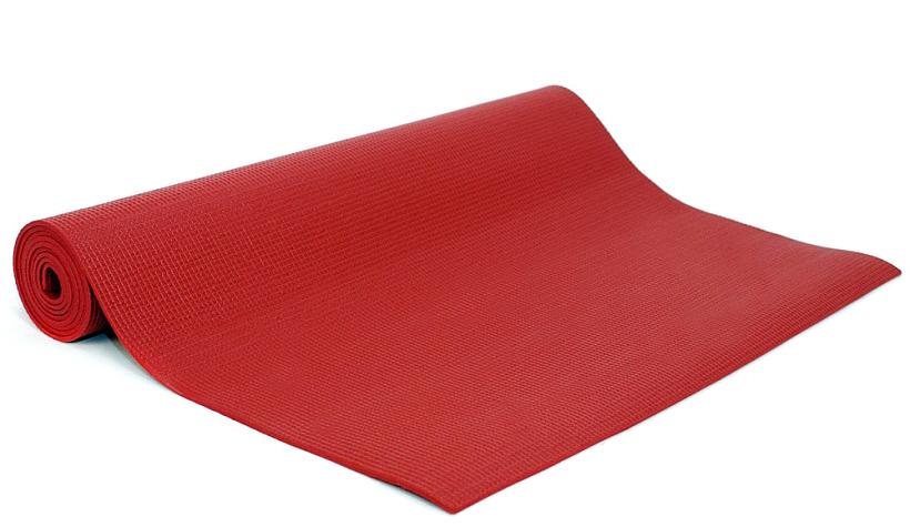 Коврик для йоги и фитнеса Yogin Ganesh, цвет: красный, 60 х 0,4 х 183 см2000102695089Липкий армированный коврик для йоги Ganesh рекомендуется для начинающих и для своего коврика в йога-студии. При низкой цене этот коврик обеспечит комфортную практику. Его габариты 183см х 60см х 4мм являются золотой серединой среди аналогов. Так так коврик для должен быть на 5-10см длиннее роста, то этот коврик подойдет тем, чей рост до 173-178см. Более высоким следует обратить внимание на коврики Kailash,Yogin Extra и Yogin Special. Этот йога-коврик - отличный кандидат также для выездного коврика на семинар. Он имеет небольшой вес, его легко отмыть и за ним просто ухаживать - достаточно протереть мыльной губкой, смыть водой и высушить - коврик готов к новым упражнениям.Коврик для йоги Ganesh отличается небольшим весом - меньше килограмма! Это еще одна причина взять его с собой в путешествие. Этот коврик достаточно прочен и перенесет все испытания Вашей практики, хотя для Аштанга-виньяса стиля мы бы порекомендовали более липкий и плотный мат.Его также с удовольствием берут в йога-залы, так как предлагаются 8 очень приятных цветов, которые подойдут к любому интерьеру: оливковый, синий, фиолетовый, лиловый, оранжевый, серый, морская волна и голубой.Коврик изготовлен из качественного ПВХ, абсолютно нетоксичен, прошёл независимое тестирование (SGS) на отсутствие токсичных веществ и полностью соответствует EU стандарту (стандарт безопасности игрушек). В этом коврике оптимально сочетаются длина, ширина и толщина, а также потребительские качества. За эту цену не найти лучшее предложение!Плюсы: низкая цена, небольшой вес, гигиеничность.Минусы: может скользить при интенсивной практике и, соответственно, влажных ладонях.