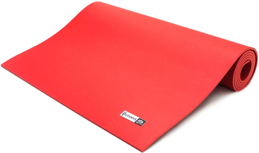 """Коврик для йоги и фитнеса Ojas """"Salamander Comfort"""", цвет: красный, 60 х 0,6 х 185 см"""