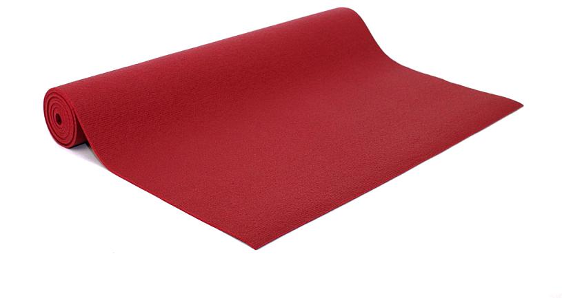 """Коврик для йоги и фитнеса Bodhi """"Kailash 60"""", цвет: бордовый, 60 х 0,3 х 175 см"""