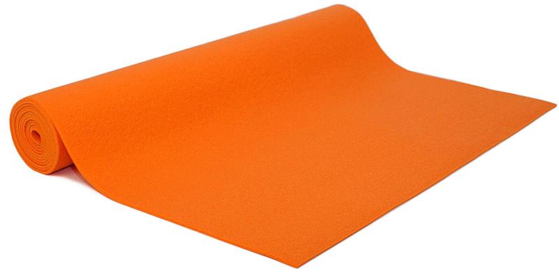 Коврик для йоги и фитнеса Bodhi Kailash 60, цвет: оранжевый, 60 х 0,3 х 175 см коврик для фитнеса и йоги larsen pvc серый