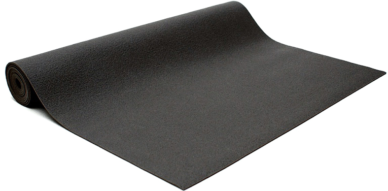 Коврик для йоги и фитнеса Bodhi Kailash 60, цвет: черный, 60 х 0,3 х 185 см