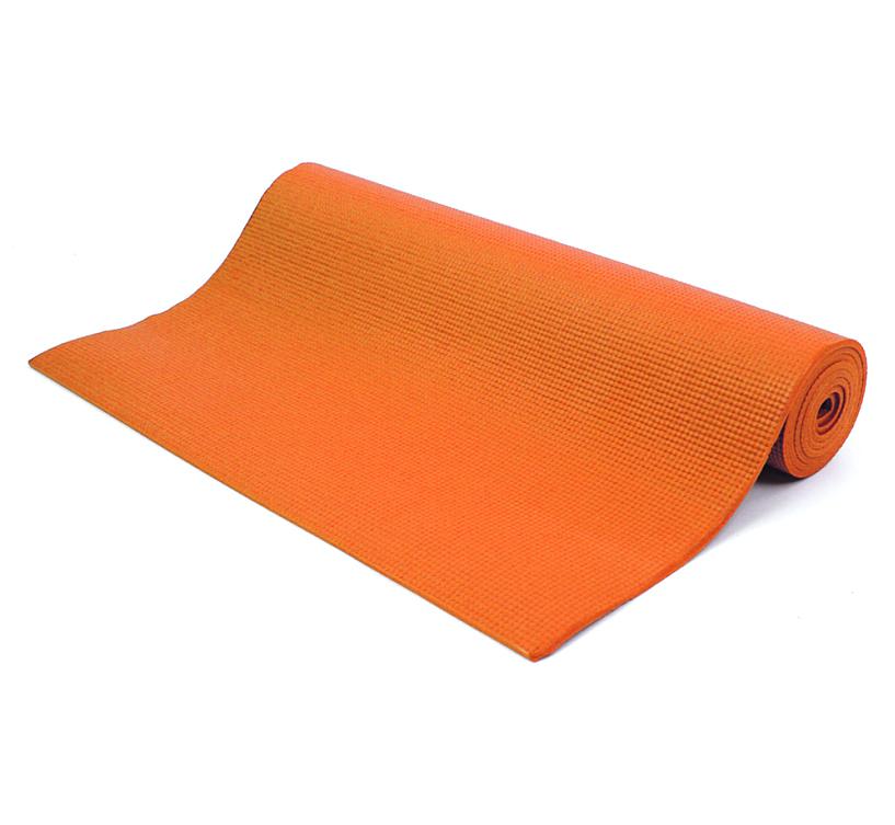 Коврик для йоги и фитнеса Yogin Shanti, цвет: оранжевый, 60 х 0,6 х 183 см2000102720132Липкий армированный йога-коврик Shanti - это йога-мат повышенного комфорта для статической практики. Он подойдет всем категориям занимающихся, особенно если занятия проходят на холодной и жесткой поверхности. Стандартные длина и ширина сочетаются в нем с повышенной (6мм) толщиной. Коврик Шанти мягкий, обеспечит вам комфорт и устойчивость при занятиях йогой. Он сделан из PVC/vinil пены. Коврик не растягивается в процессе практики, прошёл независимое тестирование (SGS) на отсутствие токсичных веществ и полностью соответствует EU стандарту (стандарт безопасности игрушек).