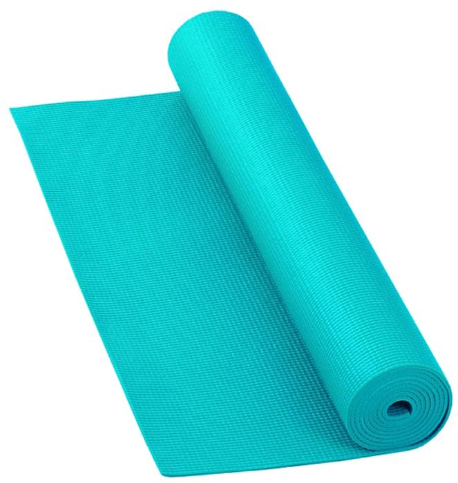Коврик для йоги и фитнеса Bodhi Asana Mat, цвет: бюрюзовый, 60 х 0,4 х 183 см2000102737062Коврик для йоги и фитнеса Bodhi Asana Mat- эффектный и легкий коврик для йоги и фитнеса. Нескользкий и мягкий, этот коврик для практики йоги легко сворачивается и удобен в транспортировке, хорошо моется.Устойчив к истиранию, армирован, не тянется как в продольном, так и в поперечном направлении. Его толщины хватает для комфорта в позах со стойкой на коленях, а также сидячих, стоячих и лежачих позах.Этот коврик рекомендован для всех типов йоги. Он проверен на отсутствие вредных веществ (сертификат Оеко-Текс 100 Level 2), поэтому он полностью безвреден при контакте с кожей. Размер коврика:размером 183 х 60 х 0,4 см.