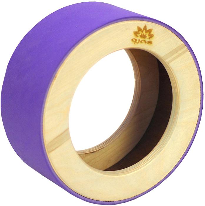 Колесо для йоги Yogin Dharma, цвет: фиолетовый, диаметр 35 см2000102740321Йога-колесо – универсальный пропс для занятий йогой, пилатесом и стрейчингом:- способствует увеличению подвижности плечевых суставов- помогает раскрытию грудного отдела позвоночника- вытягивает абдоминальную зону и прорабатывает сгибатели бедра- увеличивает общую подвижность спины и гибкость позвоночника- рекомендовано при лечении остеохондроза, сколиоза, йоготерапии протрузий. Йога-колесо - один из самый популярных тренажеров для позвоночника. Ведущие инструктора йоги и пилатеса используют его на своих занятиях.Стильный и лаконичный дизайн.Основа колеса сделана из дерева, на поверхность которого нанесена эко-восковая финишная обработка. Снаружи колесо покрыто противоскользящим покрытием из TPE (толщиной 6мм).Йога-колесо – универсальный пропс для занятий йогой, пилатесом и стрейчингом:- способствует увеличению подвижности плечевых суставов- помогает раскрытию грудного отдела позвоночника- вытягивает абдоминальную зону и прорабатывает сгибатели бедра- увеличивает общую подвижность спины и гибкость позвоночника- рекомендовано при лечении остеохондроза, сколиоза, йоготерапии протрузий. Йога-колесо - один из самый популярных тренажеров для позвоночника. Ведущие инструктора йоги и пилатеса используют его на своих занятиях.Стильный и лаконичный дизайн.Основа колеса сделана из дерева, на поверхность которого нанесена эко-восковая финишная обработка. Снаружи колесо покрыто противоскользящим покрытием из TPE (толщиной 6мм).