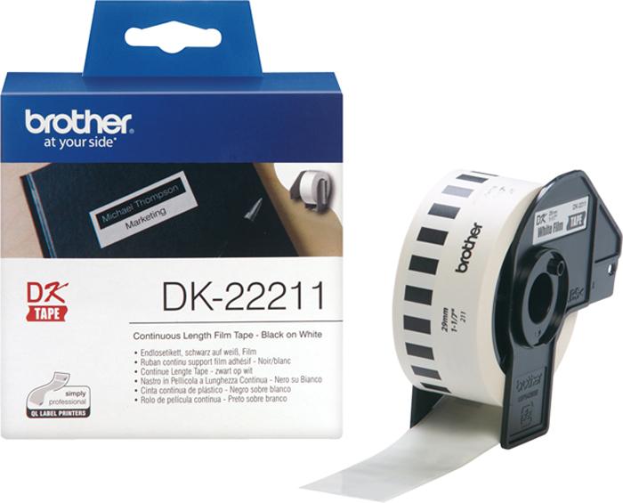 Brother DK22211, White лента для матричного принтера 29 мм