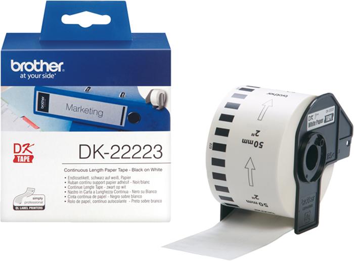 Brother DK22223, White лента для матричного принтера 50 мм