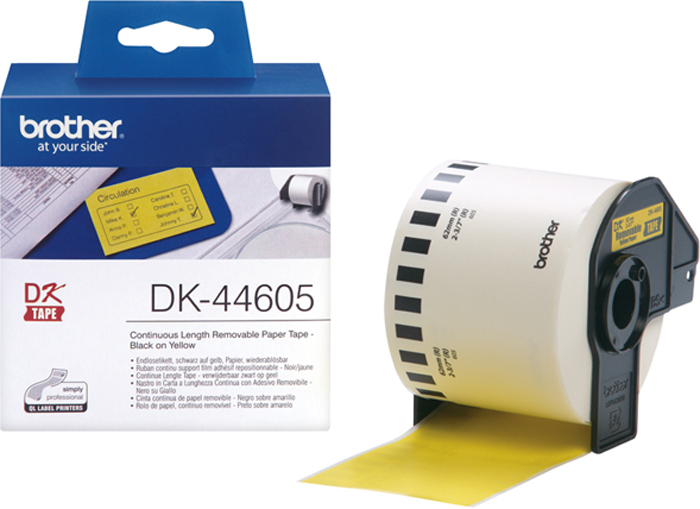 Brother DK44605, Yelllow лента для матричного принтера 62 мм