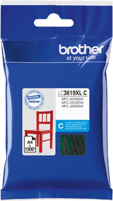 Brother LC3619XLC, Cyan картридж для Brother MFC-J3530DW/J3930DWLC3619XLCКартридж струйный Brother LC3619XLC для MFC-J3530DW/J3930DW голубой 1500стр