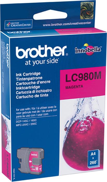 Brother LC980M, Magenta картридж для Brother DCP-145C/DCP-165C/DCP-195C/DCP-375CW/MFC-250C brother lc1220y yellow картридж для brother dcp j525w mfc j430w mfc j825dw