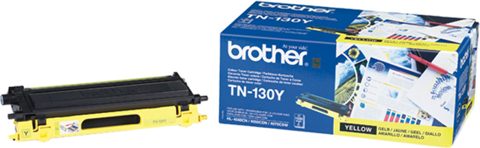 Brother TN130Y, Yellow тонер-картридж для Brother HL-4040CN/HL-4050CDN/DCP-9040CN/MFC-9440CN картридж brother lc525xly yellow для dcp j100 j105 j200