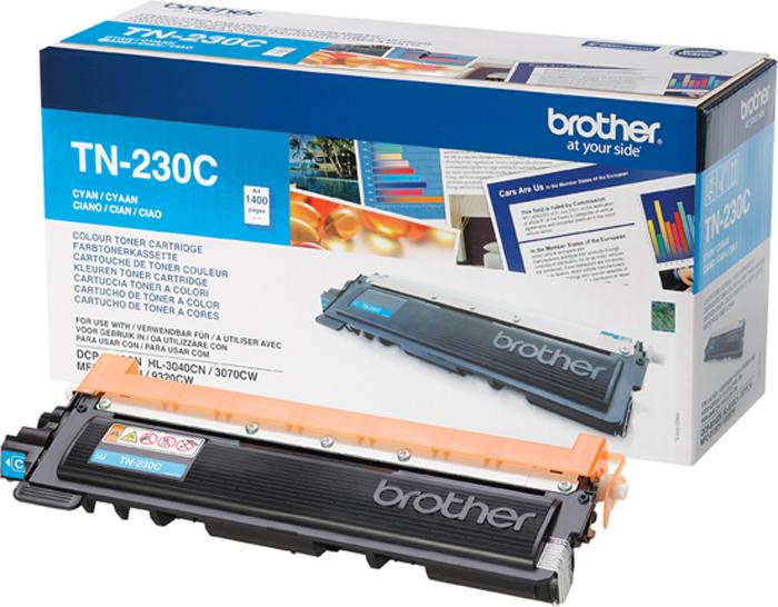 Brother TN230C, Cyan тонер-картридж для Brother HL-3040CN/DCP-9010СN/MFC-9120СNTN230CТонер-картридж Brother TN230C голубой, для HL-3040CN/DCP-9010СN/MFC-9120СN (1400 стр)