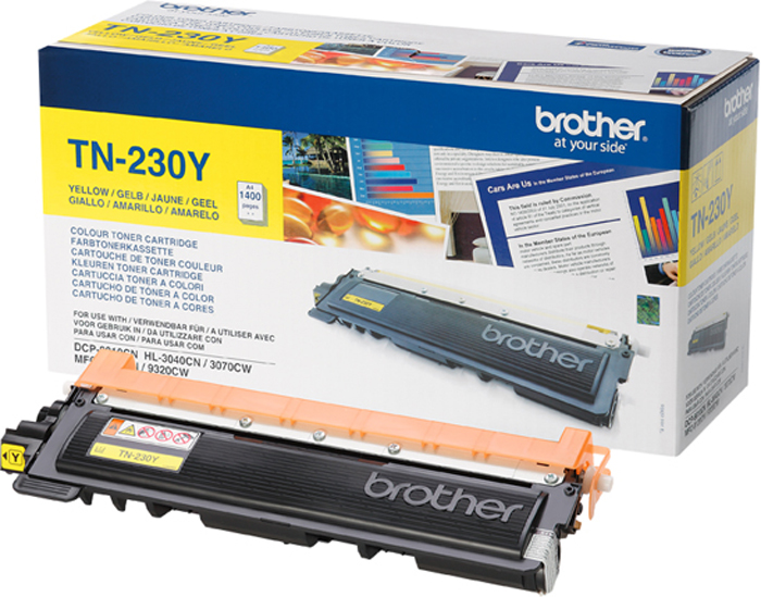 Brother TN230Y, Yellow тонер-картридж для Brother HL-3040CN/DCP-9010СN/MFC-9120СN картридж brother lc525xly yellow для dcp j100 j105 j200